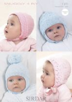 Sirdar Snuggly 4ply - 1371 Bonnets & Helmets Knitting Pattern